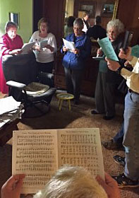 Group of carolers